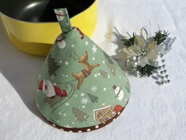鍋つかみ 三角つまみ クリスマスサンタクロース 1個の画像1枚目