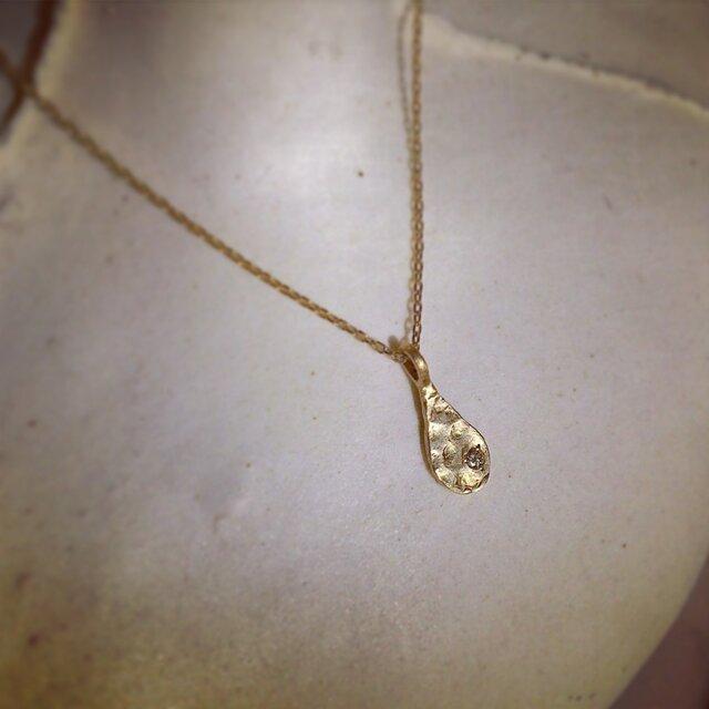K10 涙の滴 necklace 再販の画像1枚目