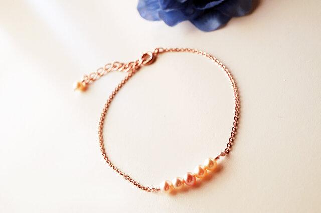 淡水パール真珠ブレスレット Eau Perle bracelet B0022の画像1枚目