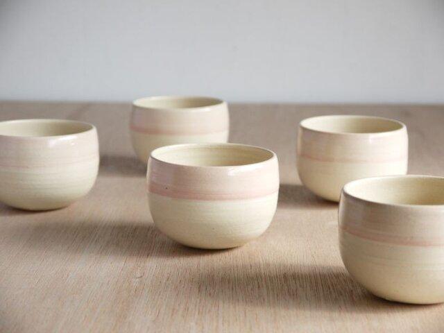 白土桃化粧丸鉢カップの画像1枚目