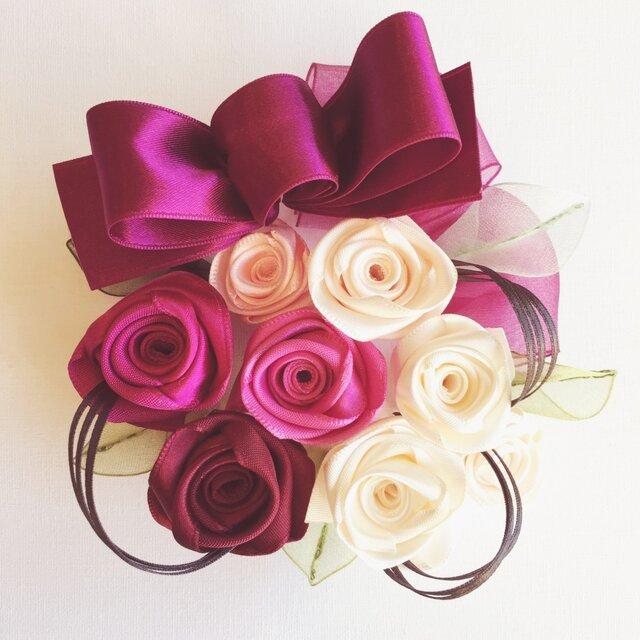 ribbon flower ruby |010の画像1枚目