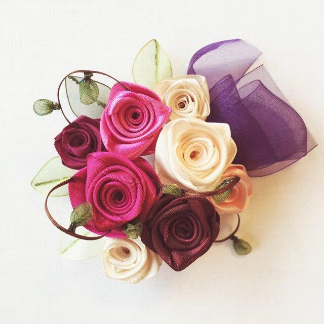 ribbon flower raspberry|012の画像1枚目