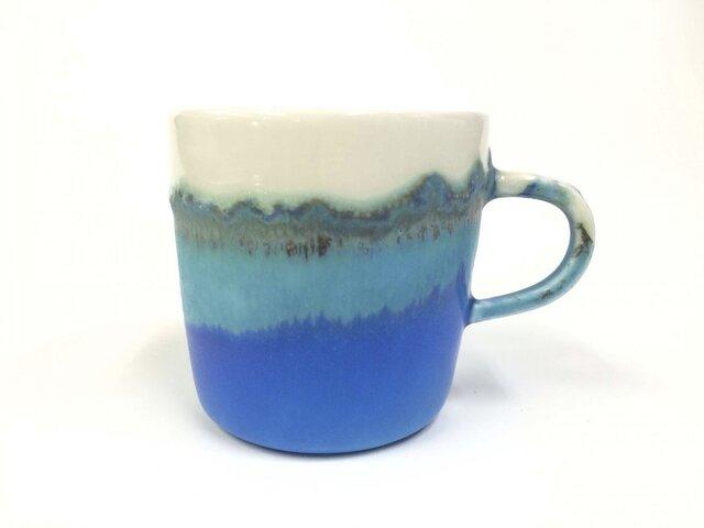 "Meoto cup/M ""Mug""(Transparent-turquoise)の画像1枚目"