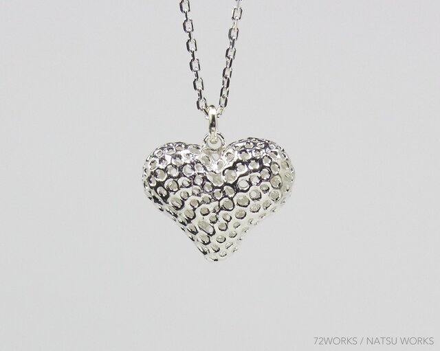 Line Heart Necklace ②の画像1枚目