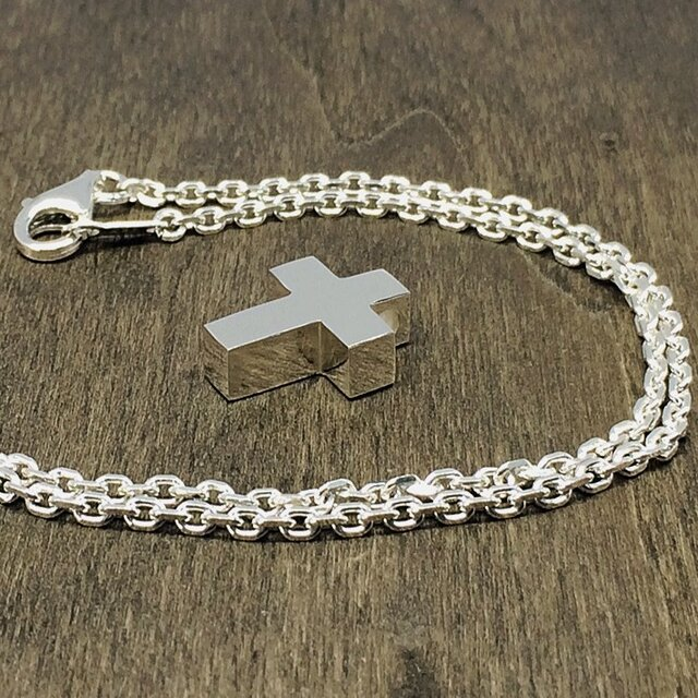 シンプルクロスのネックレス(小)の画像1枚目