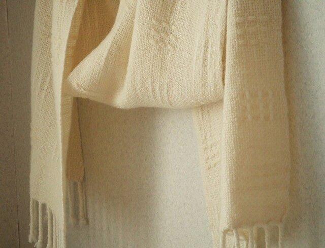 手織りマフラー・・ホワイトクリスマスⅱの画像1枚目