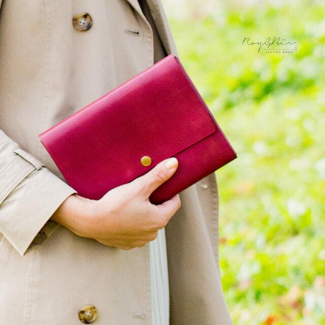 【カラーオーダー】ヌメ革マルチケース・母子手帳ケースの画像1枚目