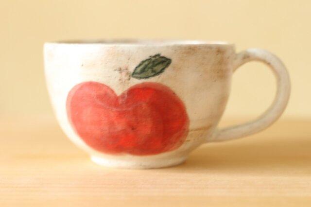 赤いりんごの大きめスープカップの画像1枚目