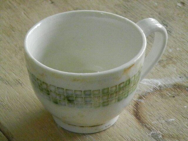 緑釉象嵌 マグカップ(丸)の画像1枚目
