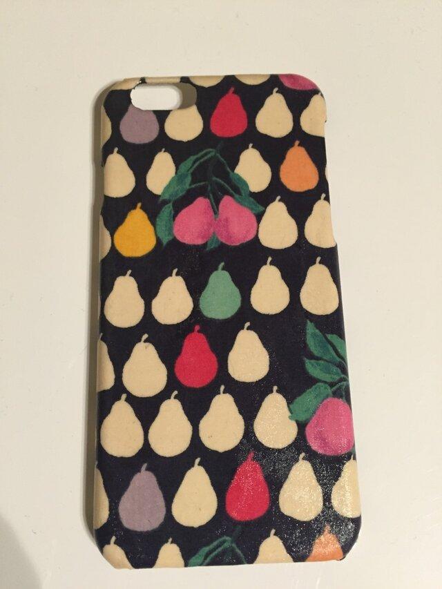 大人可愛いリバティiPhone6,6sケース艶めき加工の画像1枚目