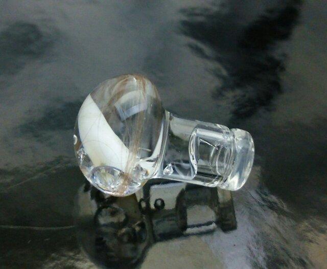 ガラスボディピアス:プラグ0Gサイズの画像1枚目