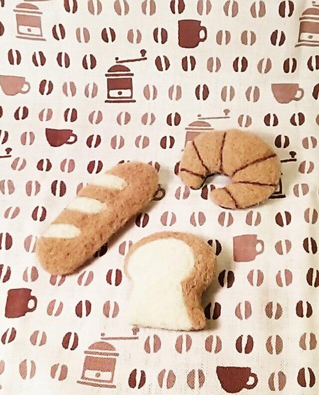 パンのブローチ② 3個セットの画像1枚目