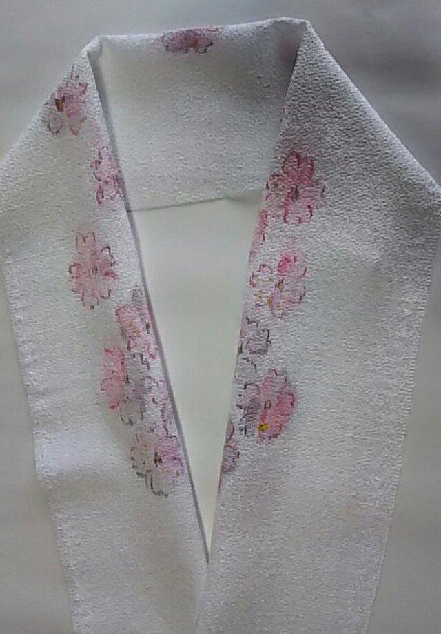 墨絵風桜の半襟 (手描き)の画像1枚目