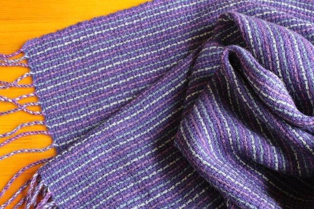 手織のストール 菫(すみれ)の画像1枚目