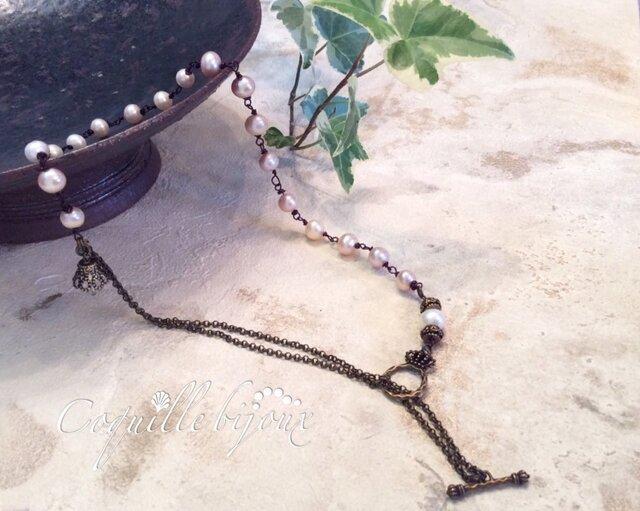 一点モノ*Frenchantiquewaire nostrgy necklaceの画像1枚目
