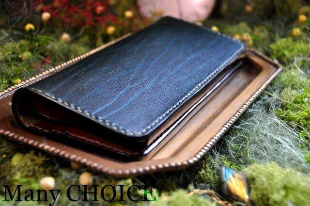 革の宝石・ルガトー・長財布(緑×茶)の画像1枚目