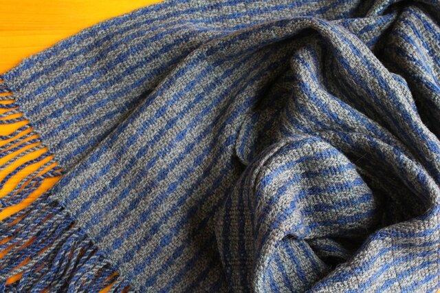 手織のストール 鉄紺(てつこん)の画像1枚目