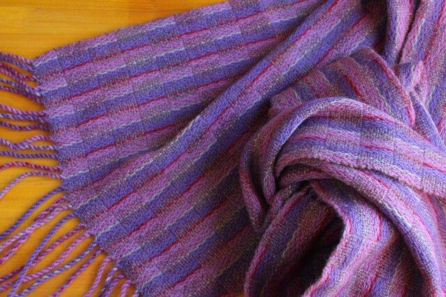 手織のストール 藤納戸(ふじなんど)の画像1枚目