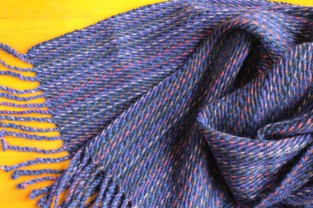 手織のストール 茄子紺(なすこん)の画像1枚目