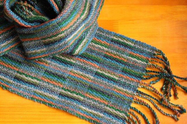 手織のマフラー 松葉(まつば)の画像1枚目