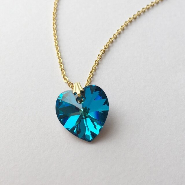 blue heart necklaceの画像1枚目