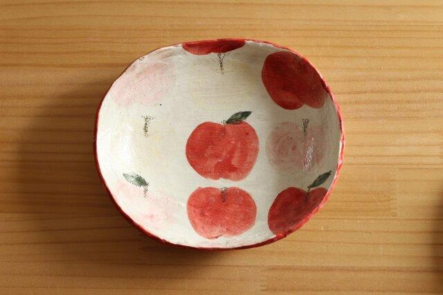 粉引きりんごのオーバル皿。の画像1枚目