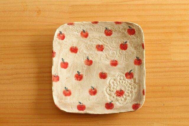 粉引きリンゴいっぱいのトースト皿。の画像1枚目
