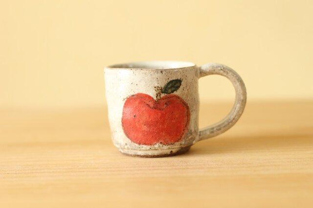 粉引きりんごデミタスカップ。の画像1枚目