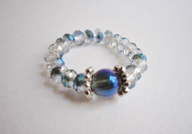 パープルオーラ & カットガラス ringの画像1枚目
