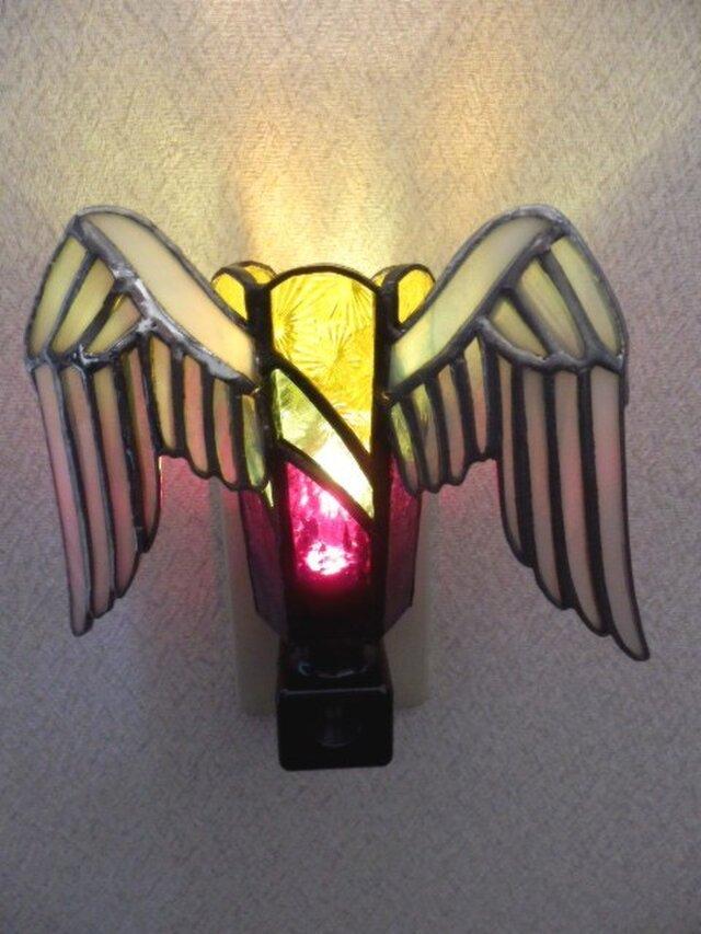 ステンドグラス フットランプ 翼の画像1枚目