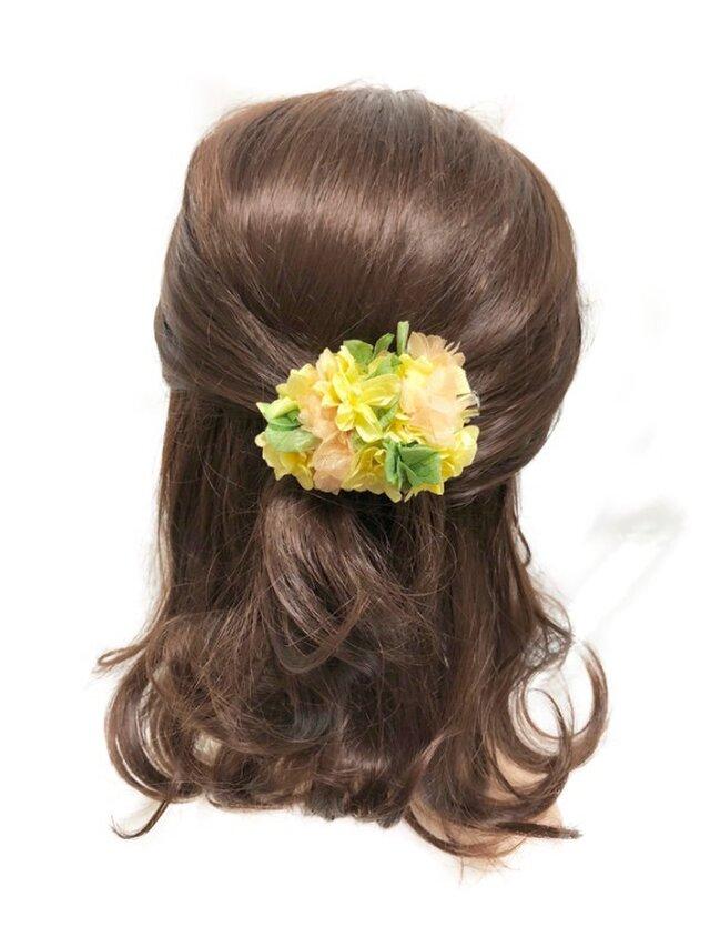 【プリザーブドフラワー/ヘアアクセサリーシリーズ/本当の紫陽花の髪飾り】ミニサイズの画像1枚目