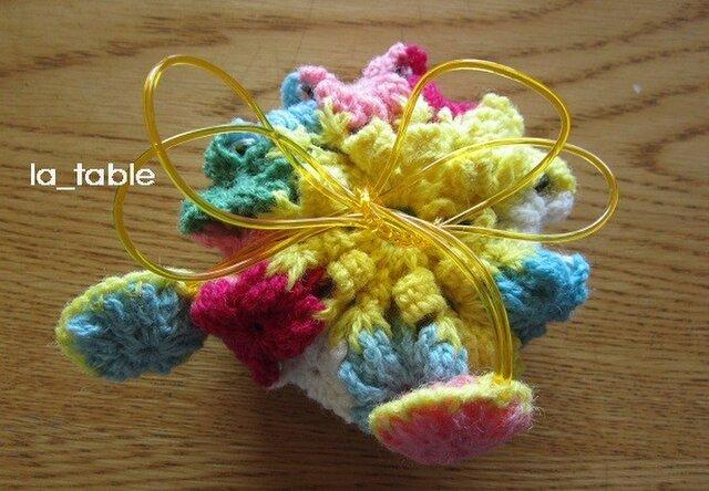 花たくさんの巾着ポーチ AME-CHAN「ニジイロ」の画像1枚目