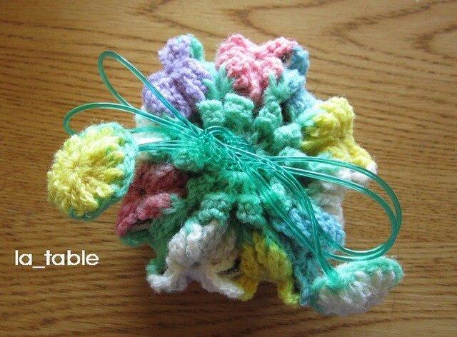 花たくさんの巾着ポーチ AME-CHAN「ラムネ」の画像1枚目