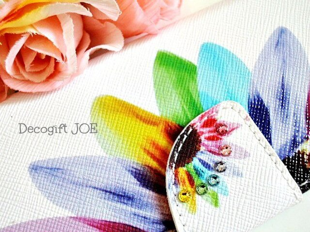 iPhone6/6sケース スワロフスキー Sunflower の画像1枚目