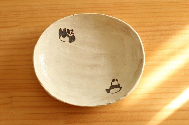 粉引きパンダオーバル皿。の画像1枚目