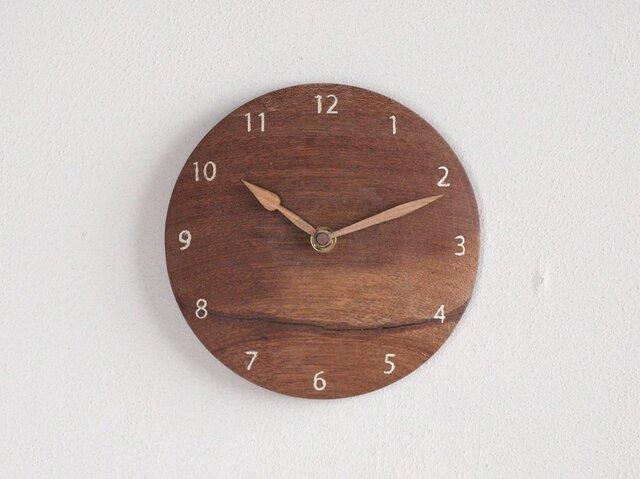 掛け時計 丸 レッドラワン材②の画像1枚目
