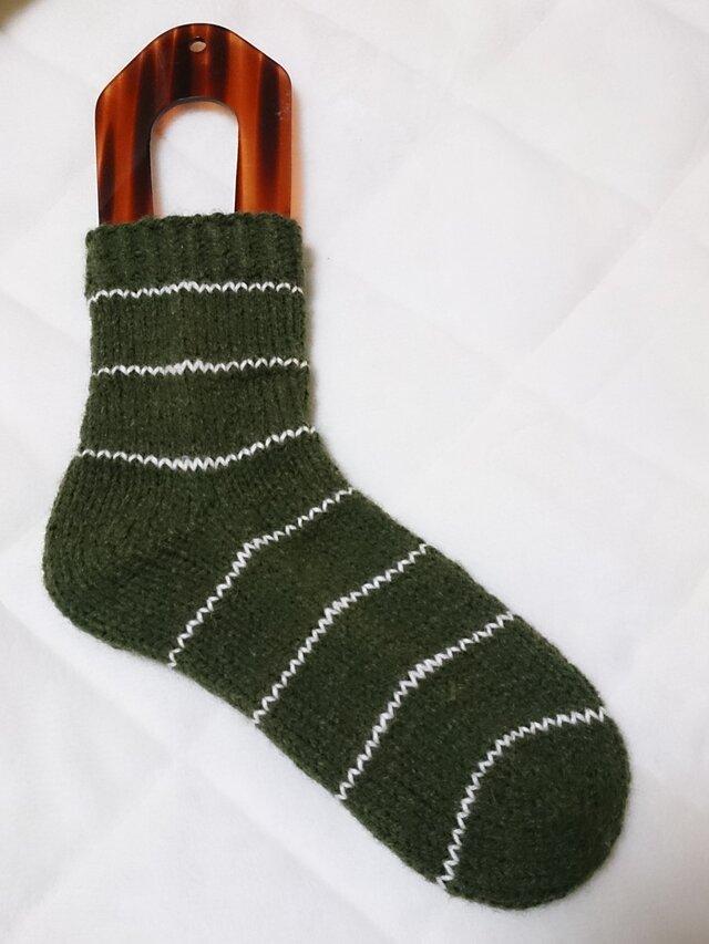 手編みルームソックスの画像1枚目