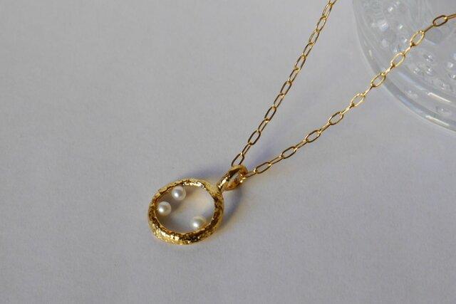 Bubble necklace(K18GP)の画像1枚目