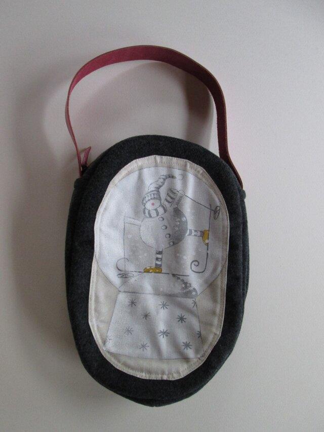スノウドームのワンハンドルバッグの画像1枚目