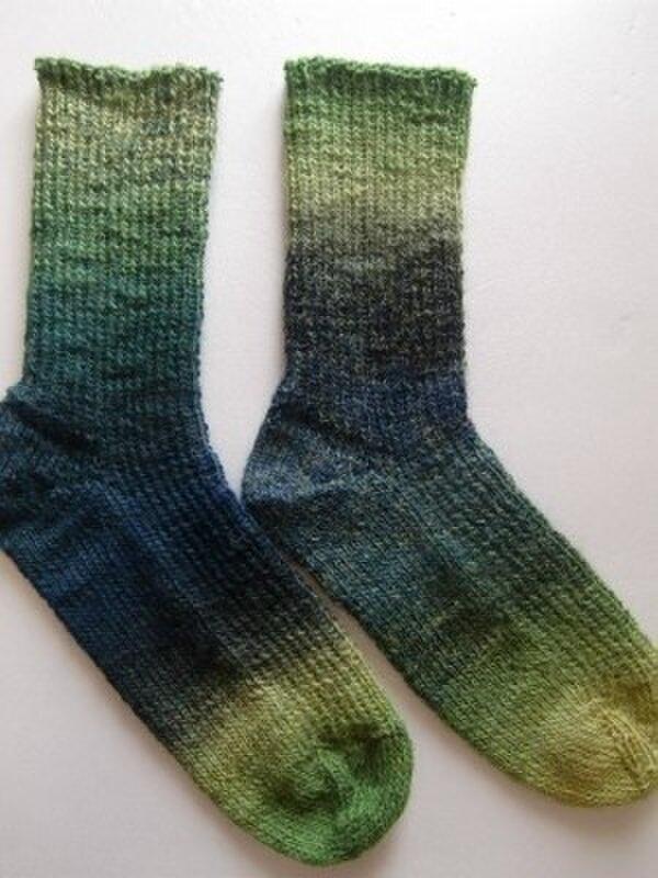 手編み靴下【superba POEMS  003 ジャングル】の画像1枚目