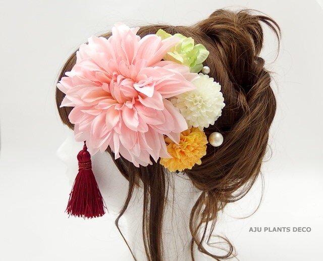 髪飾り(1)~大輪ダリア~の画像1枚目