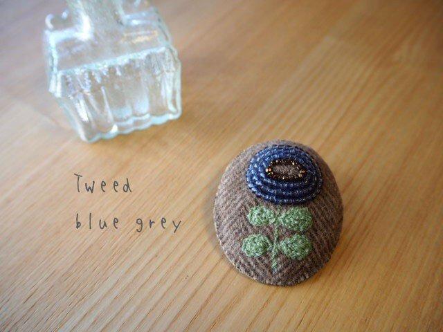Tweed blue grayの画像1枚目