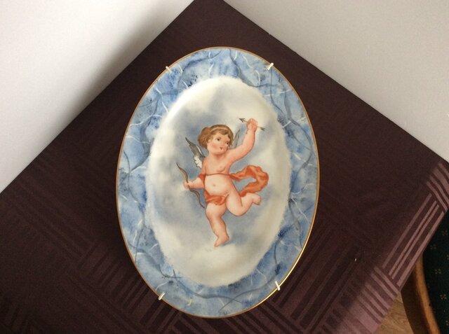 天使の絵皿の画像1枚目