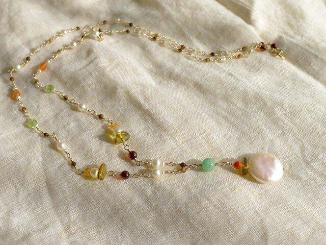 淡水パールのネックレスの画像1枚目