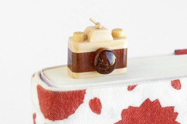 木製カメラしおり(ブックマーカー)の画像1枚目