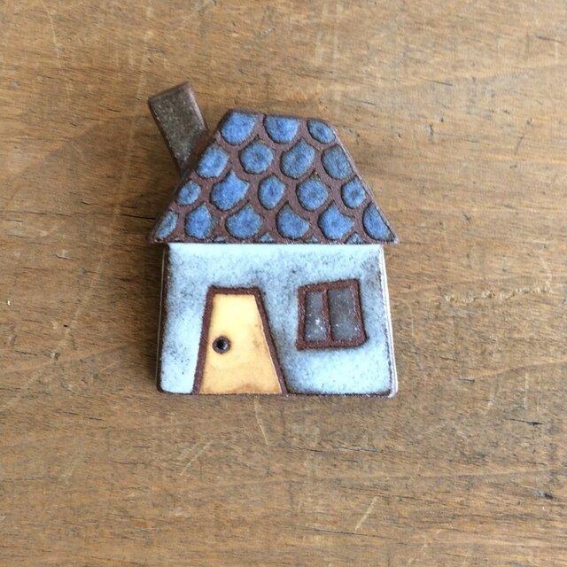 煙突の家ブローチ(№213)の画像1枚目