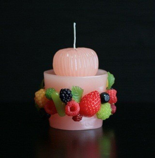 フルーツカップキャンドル(ピンク)の画像1枚目