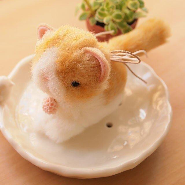 【再販】ちいさなぬいぐるみ 猫*茶トラ×白の画像1枚目