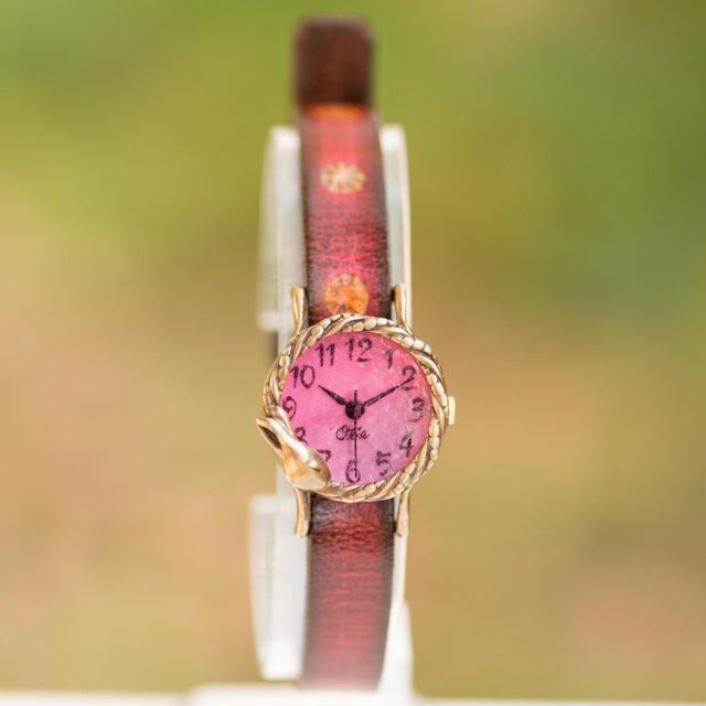 夢みるうさぎ腕時計Sチェリーの画像1枚目
