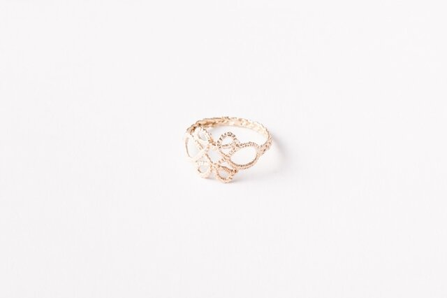 Lace Ring#1 K10 Goldの画像1枚目